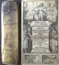 Codex Justinianus 1642 Amsterdam Blaeu recht law droit