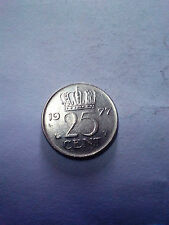 25 cent 1977 coin free shipping Nederland Holland