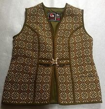 Ladies vintage Welsh tweed tapestry Eclipse pure wool waistcoat jacket VGC 16 L