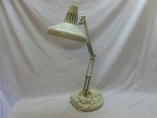 Vtg Large Drafting Adjustable Arm Industrial Luxo Color Correct Desk Task Lamp