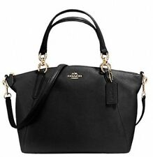 NWT Coach Pebble Leather Kelsey Small Satchel Midnight F36675 MSRP $295