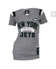 Women's NFL Team Super Soft Blended V-Neck T-Shirt New York Jets (Grey), XLarge