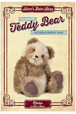 Mohair Bear Making Pattern & A5 Instruction booklet - Rolo 29cm when made