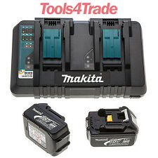 Makita BL1830 18v 2 x LXT 3.0ah Lithium-Ion Batteries + DC18RD Dual Port Charger