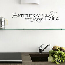 1Pc PVC Quote Kitchen + Home Mural Art DIY Decal Decor Removable Wall Sticker