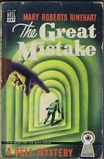 The Great Mistake, A Dell Mystery, Mary Roberts Rinehart, Map Back, Paperbk 1949