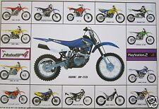 """MOTORCYCLES """"PLAYSTATION 2/MOTO GP4"""" POSTER -Suzuki,Honda,Husaberg,Yamaha,Sherco"""