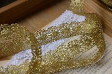 3/4 inch wide Gold Color Lace Trim price for 1 yard