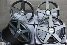 "19 ""CALIBRO CCF scaglionati DEEP DISH Gunmetal DIRECT FIT 19 Pollici Ruote in Lega"