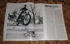 1967 Mint Print Clipping Benelli Motorcycles 250cc Barracuda Cycle Road Test 4pg