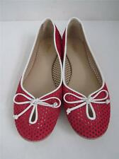 Fendi Raspberry Laser Cut Perforated Ballet Flats w/ Bow/Shoes Size 37.5