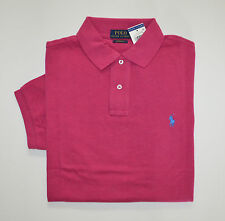 NWT Men's Ralph Lauren Short-Sleeve Polo Shirt, Dark Pink, Custom Fit XL X-Large