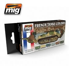 MIG PRODUCTIONS A.MIG7110 - FRENCH TANKS COLOR ACRYLIC PAINT SET