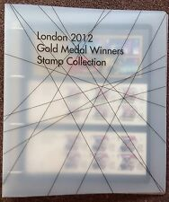 Full Set x 29 London Olympics Gold Medal Winners Stamp Collection in Album