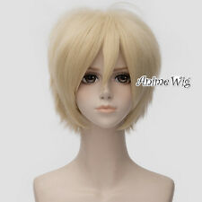 Light Blonde Short 30CM Layered Anime DuRaRaRa!! Heiwajima Shizuo Cosplay Wig
