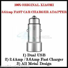 GENUINE XIAOMI Mi 2.4A Dual USB Metal QUICK Car Charger Adapter for Redmi 3 3S
