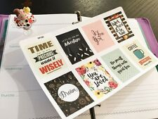PP150 -- 8pcs Inspirational Quoes Life Planner Stickers for Erin Condren