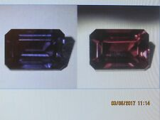 18.5 ct 17x12 mm (EMERALD CUT) SAPPHIRE PENDENT COLOR SHIFT LT.PURPLE TO RED