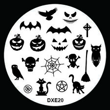 Halloween Design Nail Art Image Stamp Stamping Plate Manicure Template Tool D-20