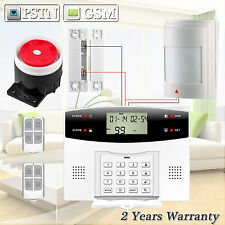 Wired Detector Sensor G2 PSTN GSM SMS Home Security Burglar Alarm System DIY Kit