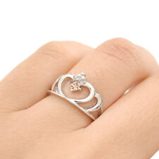 Anime Sailor Moon Silver Ring Luna Heart Crown Crystal Cosplay Fan Cute Gifts