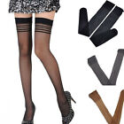 Sexy Women 1Pair Solid Nylon Over Knee Thigh-Highs Stretchy Stockings Pantyhose