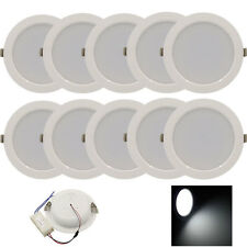10Pcs 7W White Round LED Recessed Ceiling Panel Down Lights Bulb Lamp+Driver US