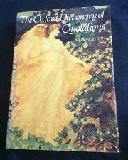 The Oxford Dictionary of Quotations Hardback New Edition Book