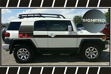 TOYOTA FJ CRUISER Side Fader Decal Vinyl Side Door stripes Rocker Tech Off Road