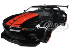 2016 CHEVROLET CAMARO SS WIDE BODY W/ GT WING GLOSSY BLACK 1/24 BY JADA 98137