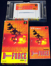 DIMENSION FORCE D-Force Super Nintendo SNES Versione Giapponese NTSC ○○ COMPLETO