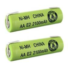 2pc AA Size 2100mAh NiMH 1.2V Rechargeable Battery Cell With Tabs  USA SHIP