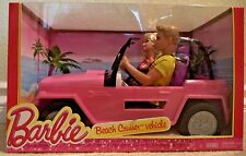 BARBIE BEACH CRUISER VEHICLE CAR GIFTSET W/ 2 DOLL 2013 Y6856 *NEW*