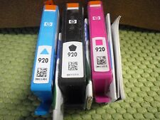 3PK New ! Genuine HP 920 OfficeJet 7000 7500A 6000 6500 Black Magenta Cyan