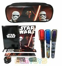 New Star Wars The Force Awakens School Pencil Pouch + Stationery + Eraser Set