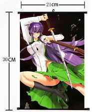 Anime HIGHSCHOOL OF THE DEAD Wall Poster Scroll Home Decor cosplay 873
