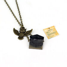 Harry Potter Hedwig Post Owl With Letter Of Admission Pendant Vintga Necklace