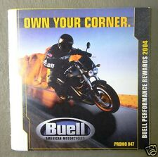 2004 Buell OWN YOUR CORNER Promotional Brochure 047 for Dealer Sales Staff