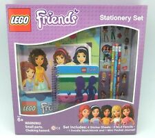 Lego Friends 9 Piece Boxed Stationery Set Brand New Gift
