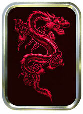 RED DRAGON  2oz GOLD TOBACCO TIN,PILLTIN,STASH CAN,BACCY TIN,BAIT TIN