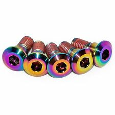 5x Suzuki Gsxr750 K6 K7 K8 Rainbow Titanium Rear Disc Rotor Bolts, Threadlock