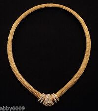 Christian Dior Gold Plated Swarovski Crystal Necklace