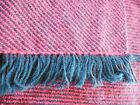 VINTAGE WOOL wrap Blanket Throw Cottage Cabin Cottage camping outdoors picnic