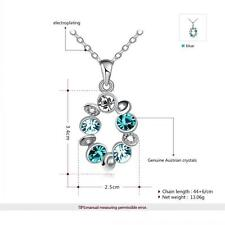 Wholesale 18ct 18K White Gold Plated AAA CZ Pendant Necklace Costume Jewellery