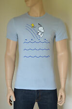 NEW Abercrombie & Fitch Charlie Brown Snoopy Peanuts Graphic Tee T-Shirt Blue L