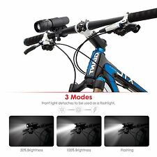 Albrillo LED Bicycle Lights Set Front Light + Taillight With Bracket For Cyclin