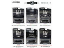 BLACK BANDIT SERIES 15,SET OF 6 CARS 1/64 DIECAST MODEL CARS BY GREENLIGHT 27860