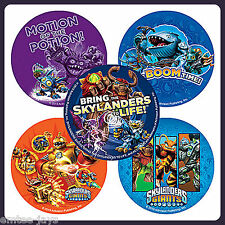 Skylanders Giants Stickers x 5 - Round - Birthday Party Favours - Boom Time