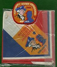 BOY SCOUT 1981 JAMBOREE  NECKERCHIEF AND PATCH - FREE SHIPPING        XX