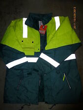 Superior Safety Yellow fluorescent hi-viz all-weather winter work jacket 6XL New